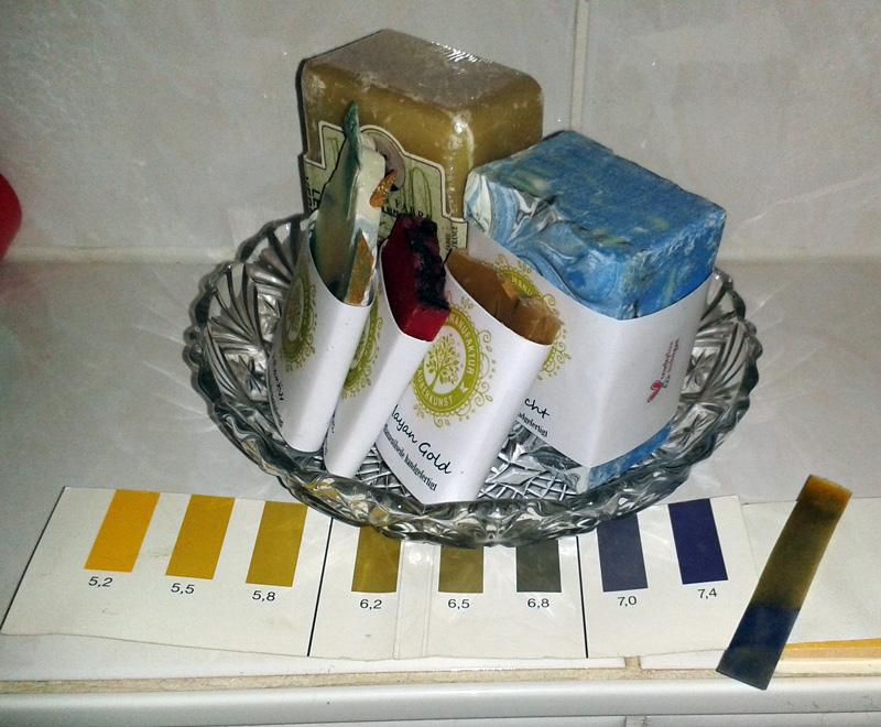 Handgemachte Seife aus Werder, Sauberkunst auf der Insel * dazu PH-Test: 7-7,5 (basisch)