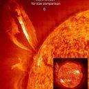 Fotoaufnahme der NASA: Sonnensturm